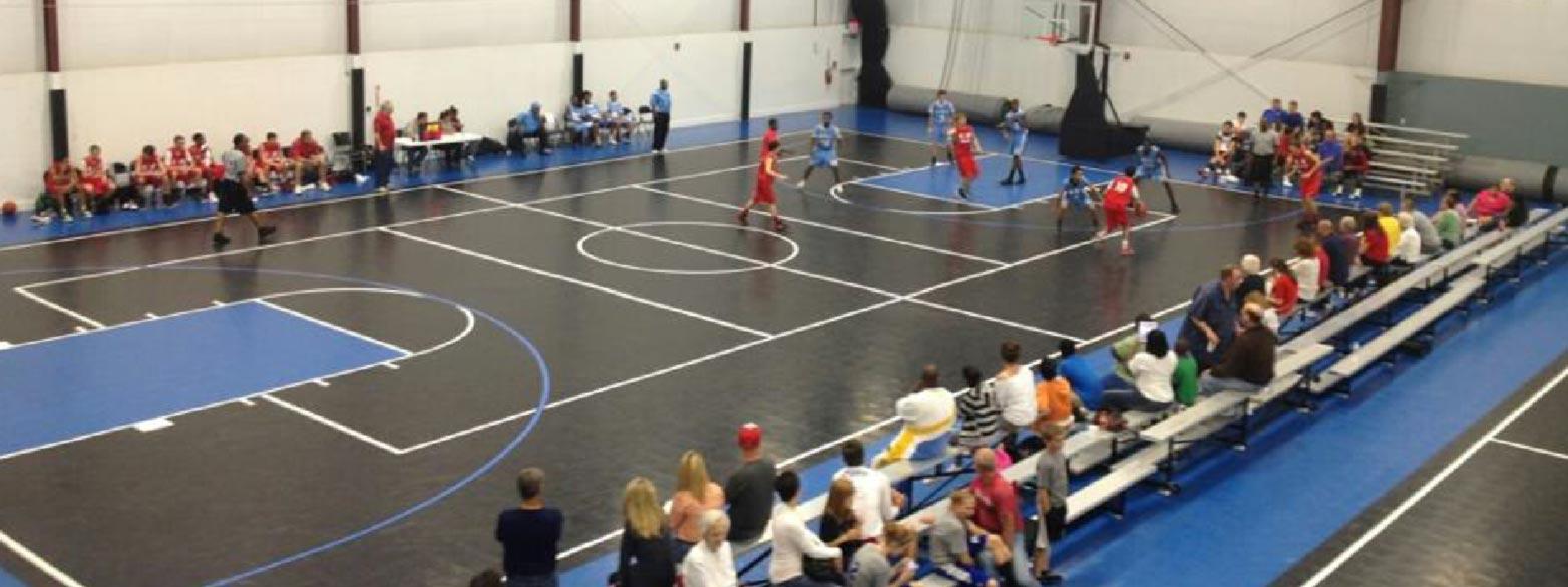 an indoor court